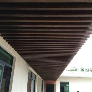 碳化木吊顶案例2